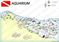 Croatia Divers - Dive Site Map of Aquarium