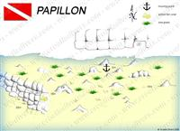 Croatia Divers - Dive Site Map of Papillon