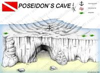 Croatia Divers - Dive Site Map of Poseidon's Cave