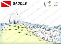 Croatia Divers - Dive Site Map of Saddle