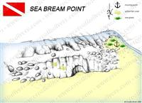 Croatia Divers - Dive Site Map of Sea Bream Point