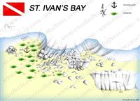 Croatia Divers - Dive Site Map of St Ivan's Bay